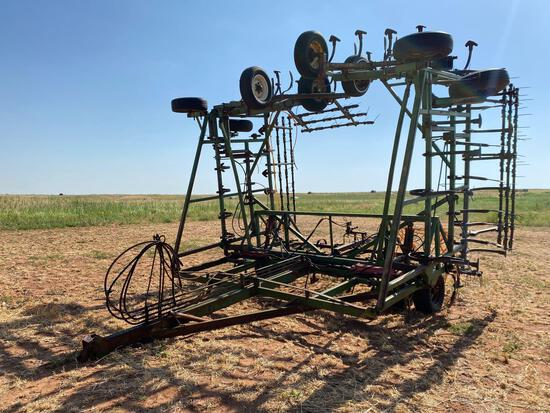 JAVORSKY 45' FIELD CULTIVATOR, QUAD FOLD W/ANHYDROUS PUMP AND HARROWS