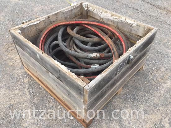 BOX OF MISC 200 PSI SUCTION HOSES
