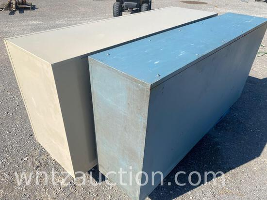 """40"""" X 24"""" X 48"""" METAL STORAGE CABINET WITH DOUBLE"""