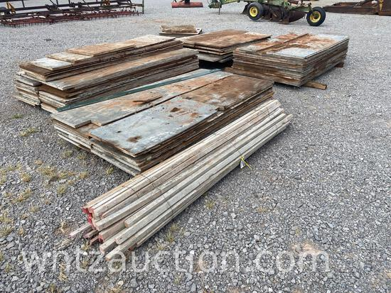 """LOT OF USED 1 1/8"""" PLYWOOD, VARIOUS SIZES AND"""