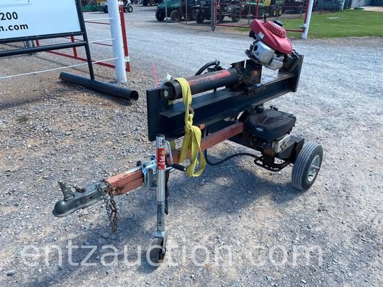 GAS POWERED LOG SPLITTER WITH EXTRA ENGINE