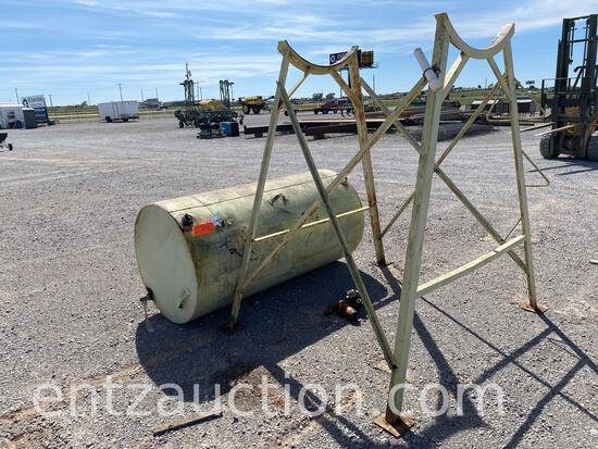 500 GALLON FUEL TANK WITH STAND AND METER,