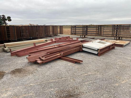 25' X 30' METAL BUILDING - USED, MAY NOT BE COMPLETE, BOLTS NOT INCLUDED