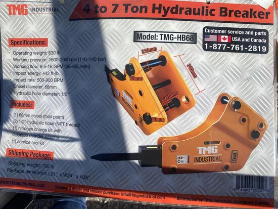 TMG 4-7 TON HYDRAULIC BREAKER, UNUSED