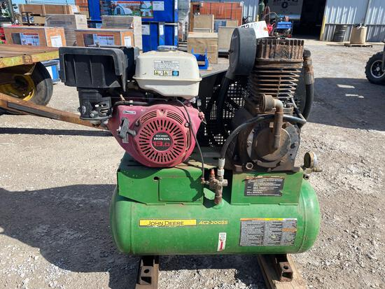 JD COMPRESSOR, HONDA 13HP GAS ENGINE, ELECTRIC