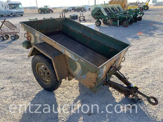 4' X 6' HD MILITARY TRAILER, PINTLE HITCH, (R) NO TITLE