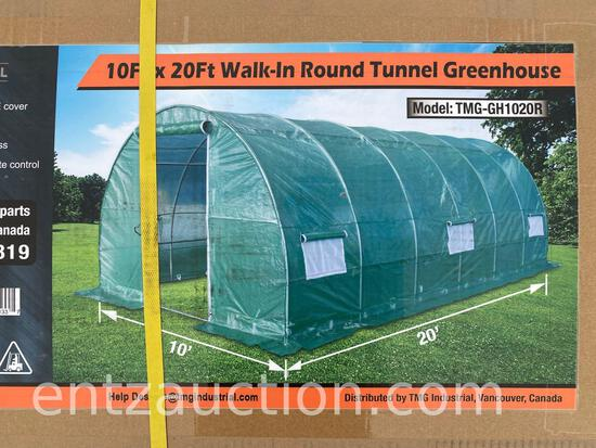 10' X 20' WALK IN ROUND TUNNEL GREENHOUSE, UNUSED