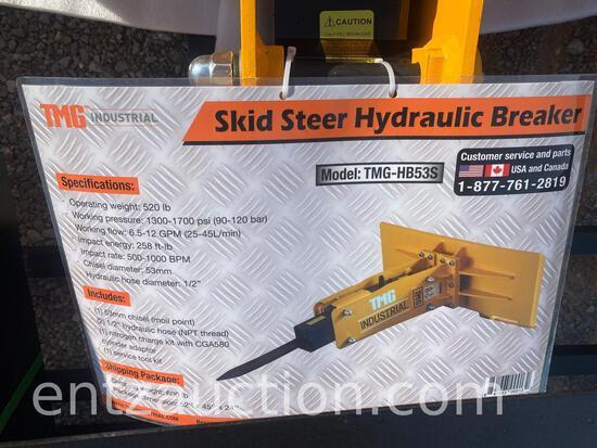 TMG SKID STEER HYDRAULIC BREAKER, UNUSED