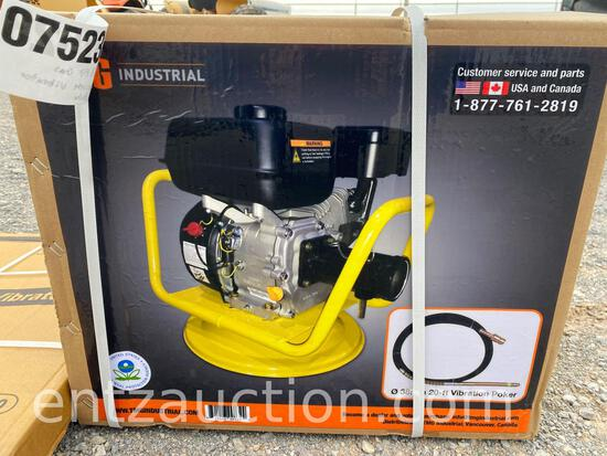 CONCRETE VIBRATOR, 6.5 HP, WITH 20' VIBRATION
