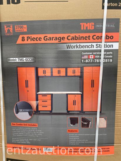 8 PIECE GARAGE CABINET COMBO WORKBENCH STATION,