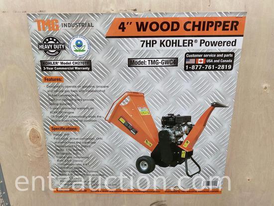 """TMG 4"""" WOOD CHIPPER, 7HP KOHLER ENGINE, UNUSED"""