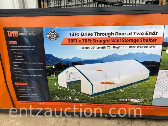 TMG 30' X 70' STRAIGHT WALL STORAGE SHELTER,