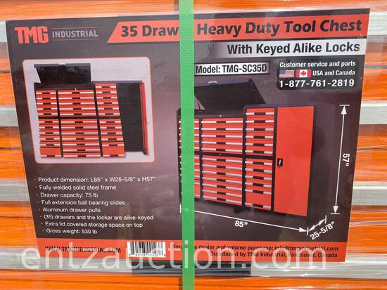 TMG 35 DRAWER HD TOOL CHEST WITH KEYED