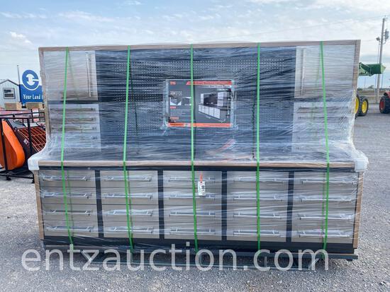TMG 10' 20 DRAWER WORKBENCH CABINET COMBO,