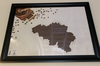 Large Wall Picture - Picture Of Belgium With Coffee Grounds