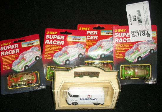 Set of Super Racers and Lambs Navy Microbus