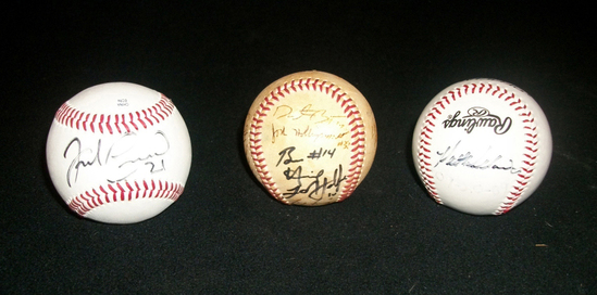 Lot 1: Three Baseballs Signed By Various Players.  Please Review Carefully!