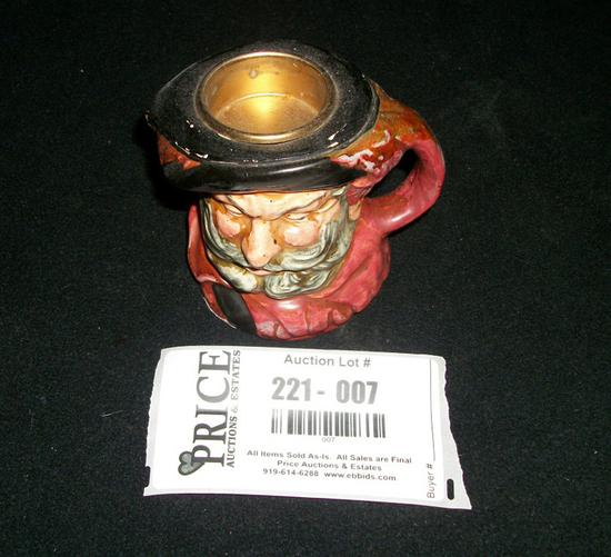 Lot 7: Vintage Royal Daulton Toby Cigarette Lighter