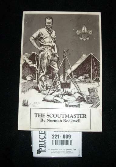 Lot 9: Vintage Norman Rockwell Screen - The Scoutmaster - Well Kept Vintage Hard To Find