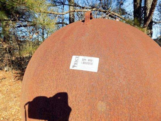 Lot 13: 500 Gallon Propane Tank Cut For Use As Smoker On Trailer.  No Vin No Title