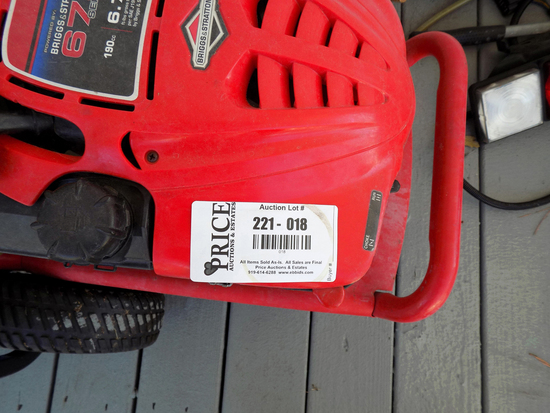 Lot 18: Troy Built Pressure Washer 6.75 Hp 2550 Max Psi
