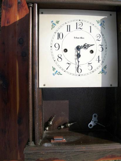 Lot 23: Ethan Allen Mini-Grandfather Clock