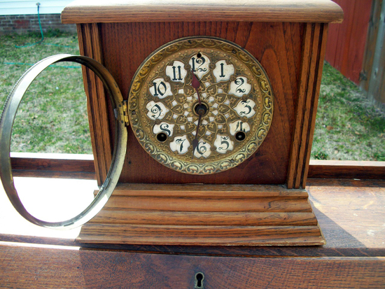 Lot 26: Vintage Mantel Clock Face Marked Sf
