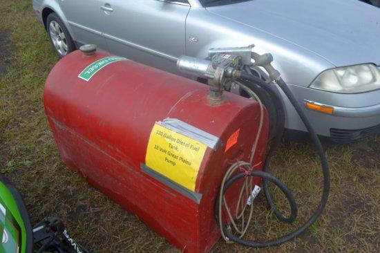 120 Gallon Diesel Fuel Tank, 12 Volt Great Plain