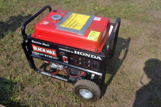 Black Max 7000Watt Generator With Honda GX390 Mot
