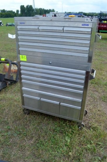 Steel Tek  Stainless Tool Box, 16 Drawer
