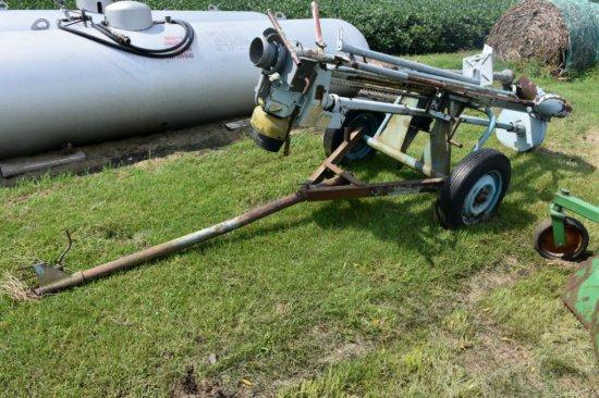 Bauer Manure Pit Pump, 9' On Transports