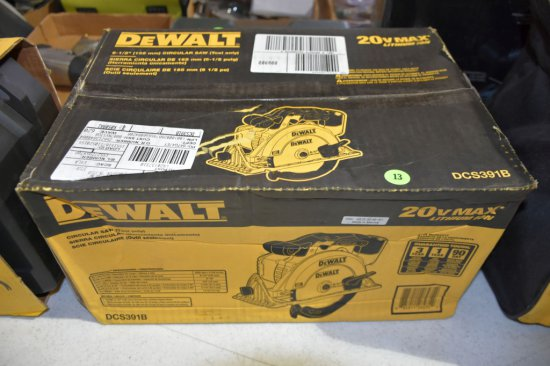 Dewalt 20 Volt Max Lithium, 6.5'' Circular Saw, Tool Only, New In Box