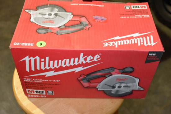 Milwaukee M18 Cordless, 5 3/8'' Metal Saw, Saw Only No Battery