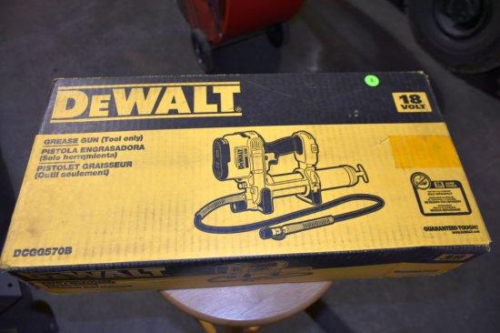 Dewalt 18 Volt Grease Gun, Tool Only, New In Box