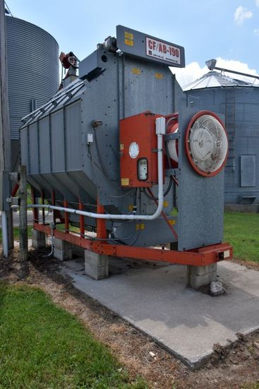 Farm Fans CF-AB-190 Corn Dryer, 1 Phase, 2379 Hours SN:1917, To Be Removed Within 60 Day At Buyers E