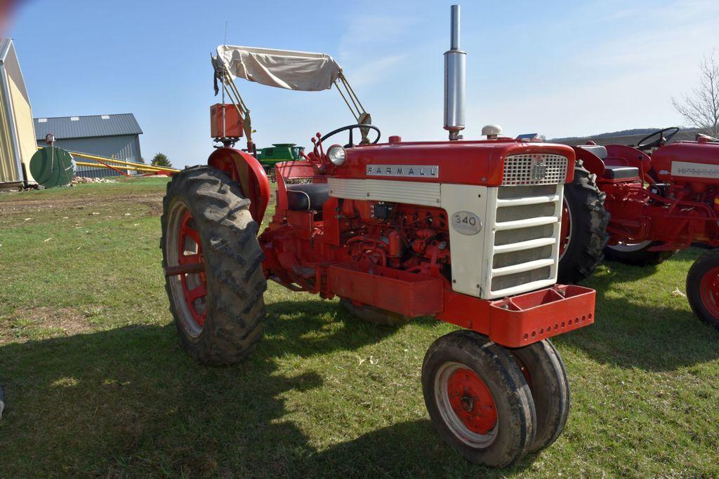 Farmall 340, Narrow Front, Row Crop, Gas, Fenders, Base Weight Bracket, Sun Umbrella, SN: 2479SY