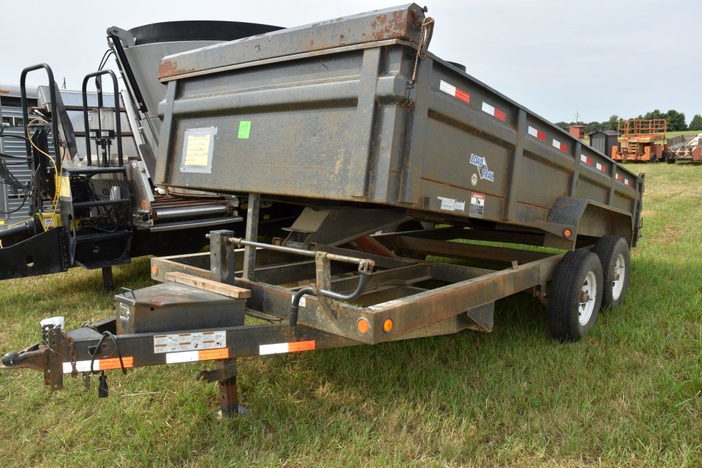 2011 Load Trail Dump Trailer, 16' x 8' Box,   Tandem Axle, Bad Bearing, Missing Tire in  Dump Box