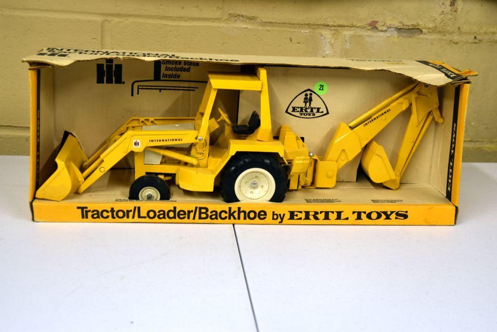 Lot: Ertl International Tractor Loader Backhoe, Blueprint