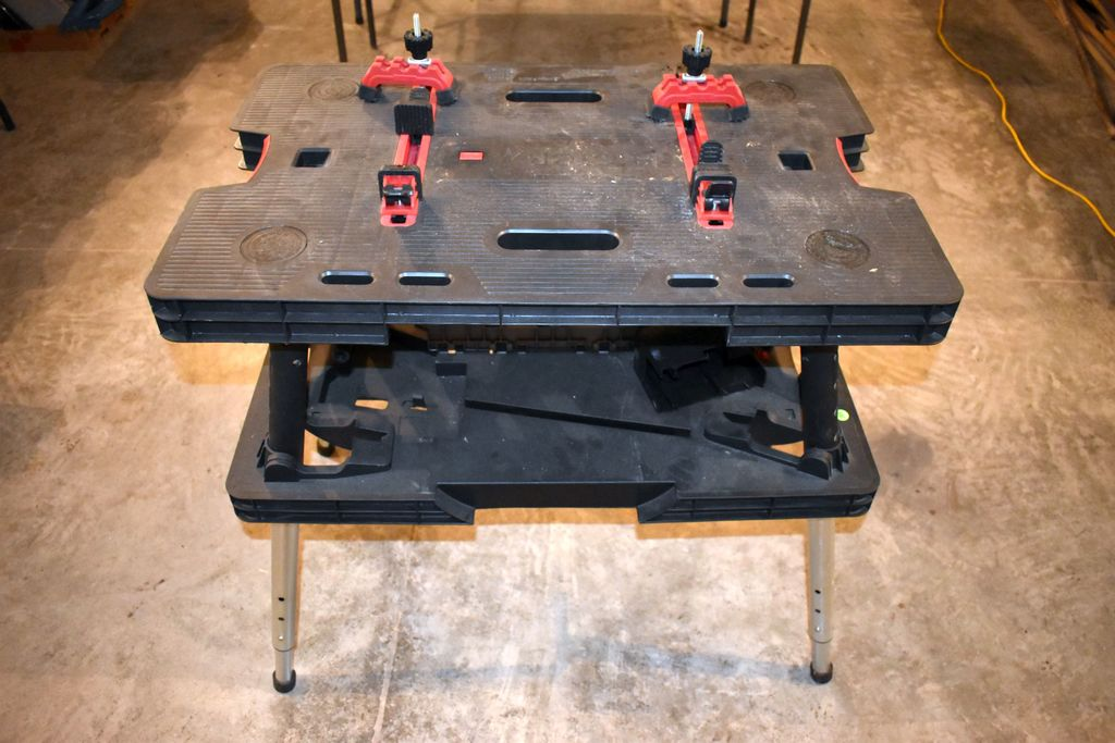 Wondrous Lot Keter Folding Workbench Plastic 2 Clamps Pick Up Andrewgaddart Wooden Chair Designs For Living Room Andrewgaddartcom
