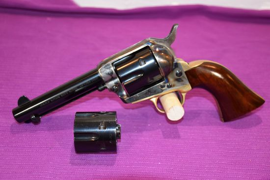 Mitchell Arms Single Action Army Model 45 Long Colt Revolver, Blued With Case Color, SN: 96932, 2 Cy