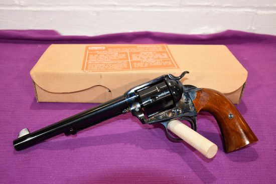 """Dakota New Model Bisley Model 38-40 Cal, Blued With Case Coloring, 7.5"""" Barrel, SN: 1084, With Box"""