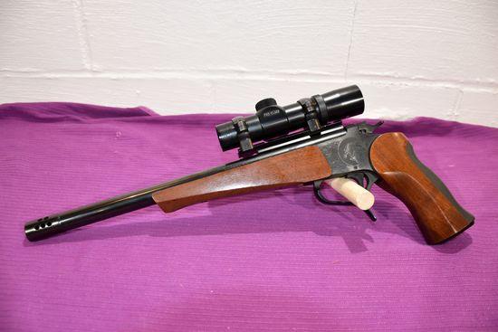 "Thompson Center Arms 7-30 Waters Pistol, Super 14, Pro Class 2x22 Scope, SN: 426432, 14"" Barrel"