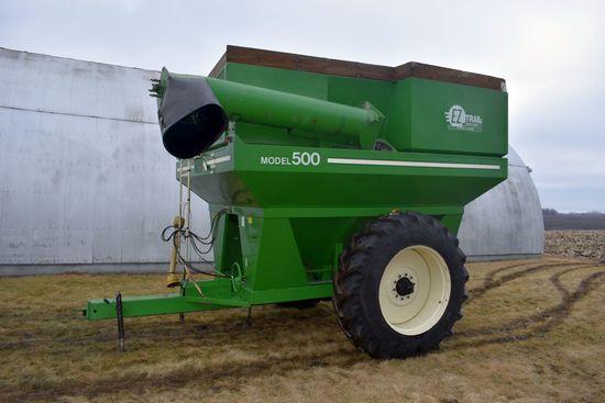 E-Z Trail 500 Grain Cart, 1000 PTO, 18.4x38 Tires