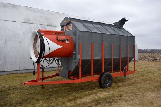 Farm Fans AB-12B Auto Crop Dryer, Single Phase, 5,120 Hours, On Transports, LP Gas, SN: 3-2211