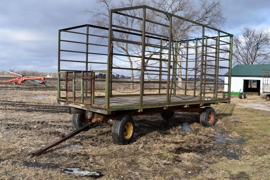 9' x 18' Bale Throw Rack With 10 Ton Gear
