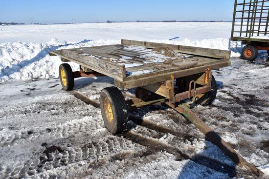 7' x 12' Flatbed Hay Rack On Gear
