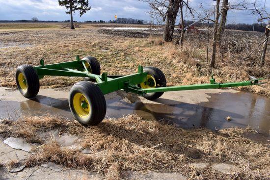 8 Ton Running Gear, Good Flotation Tires, Painted Green