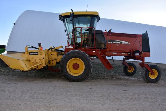 2007 New Holland HW 365 Self Propelled 16' Disc Bine, Full Cab, Diesel, Hydro Drive With Only 1,364