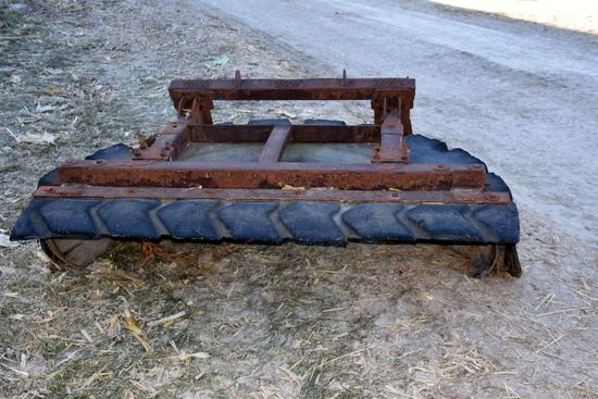 Tire Pusher Scraper With Universal Skid Loader Plate