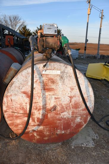 1,000 Gallon Fuel Tank With Franklin Electric Pump